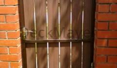 Заборная доска из ДПК с применением в различных местах